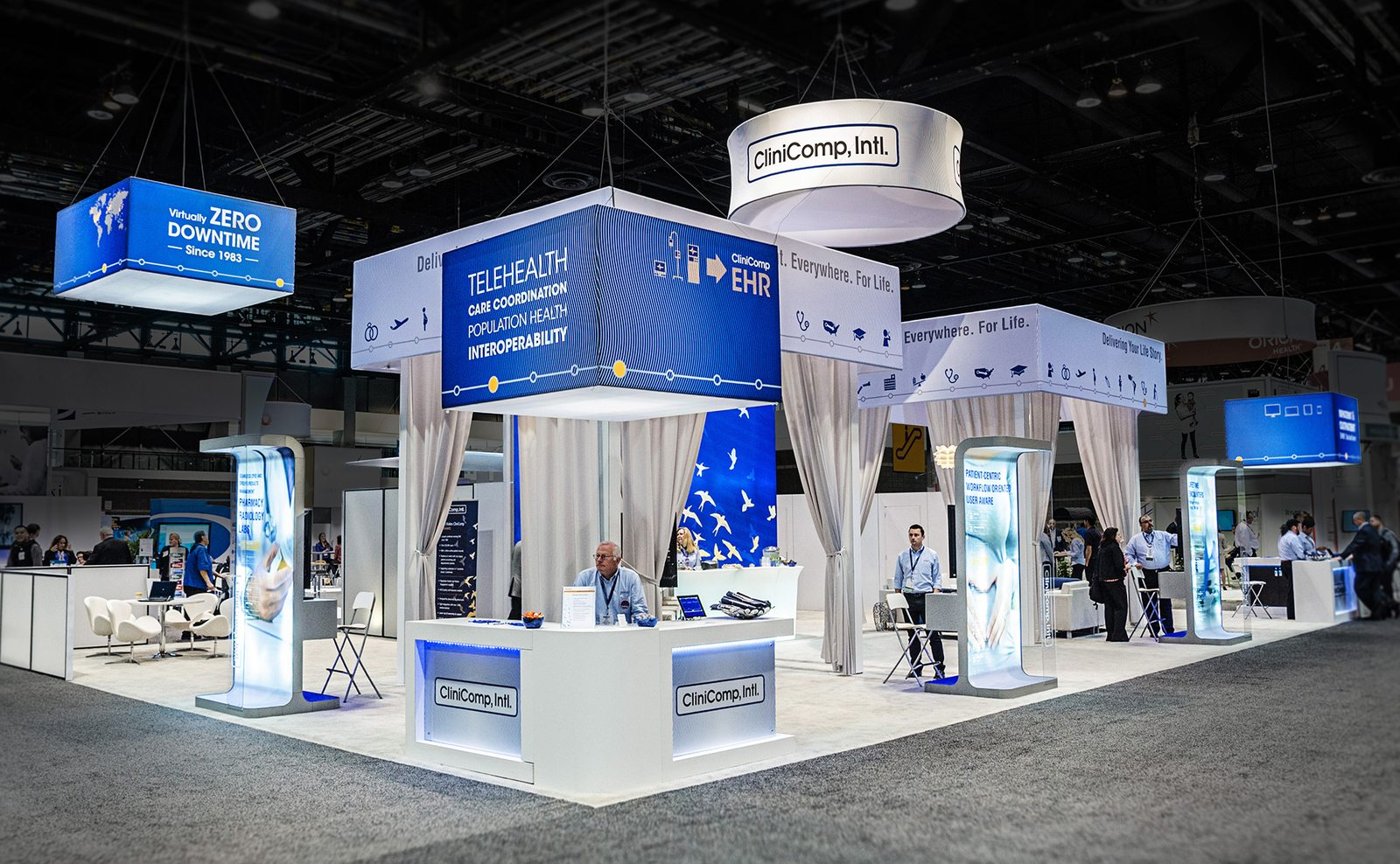 Clinicomp international skyline suncoast displays for Trade exhibition